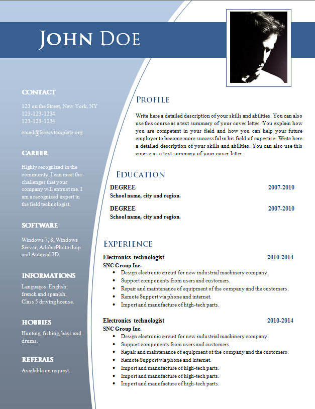 cv templates for word  doc   632