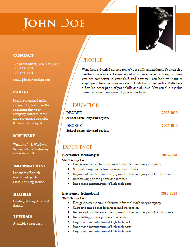 cv templates for word doc 632  638 • get a free cv