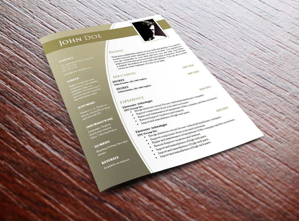 CV templates for word .DOC (#632 – 638)