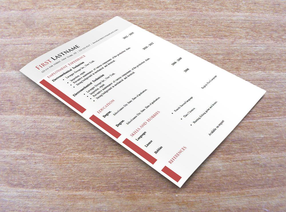 Curriculum Vitae Templates .DOC Format (#618-624)