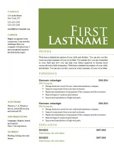 Cv resume word template #655