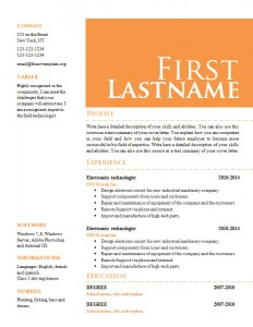Cv resume word template #657