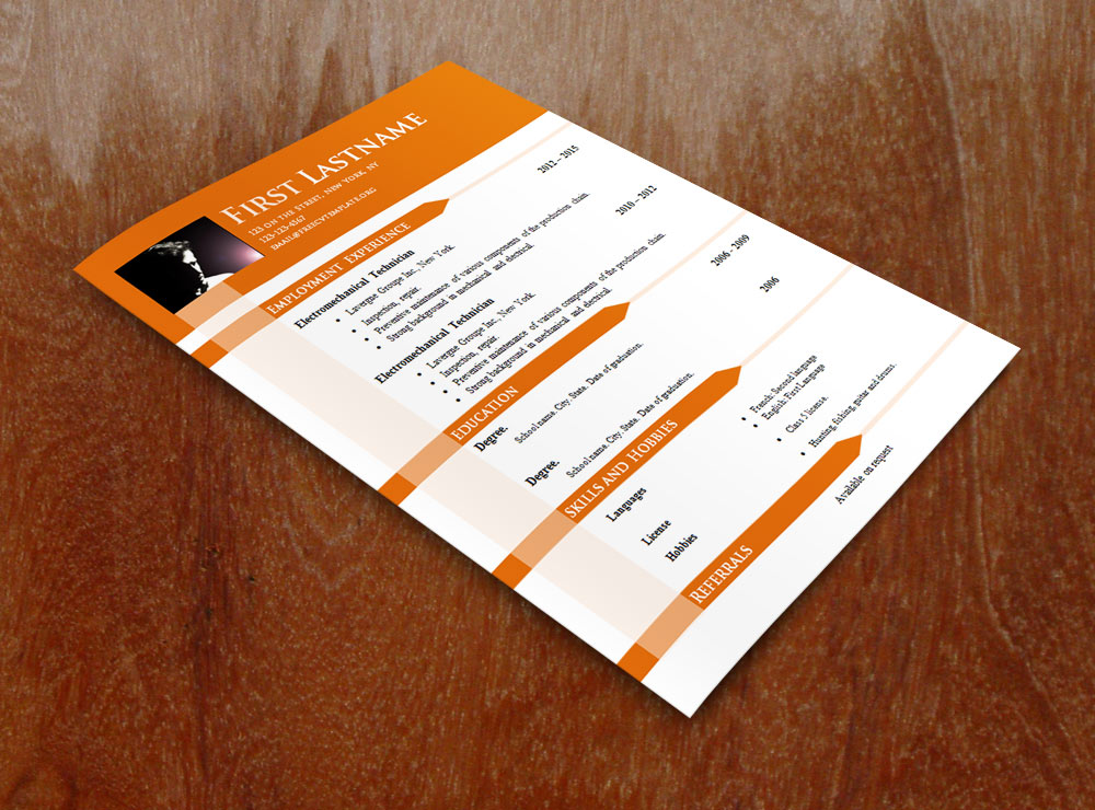 Free cv templates #646 to 652