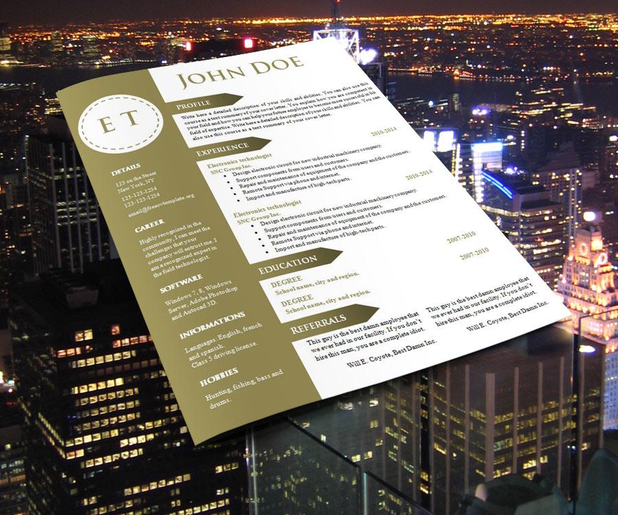 Free cv resume template #740 – 746