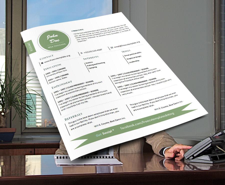 Free cv résumé templates #723 – 732