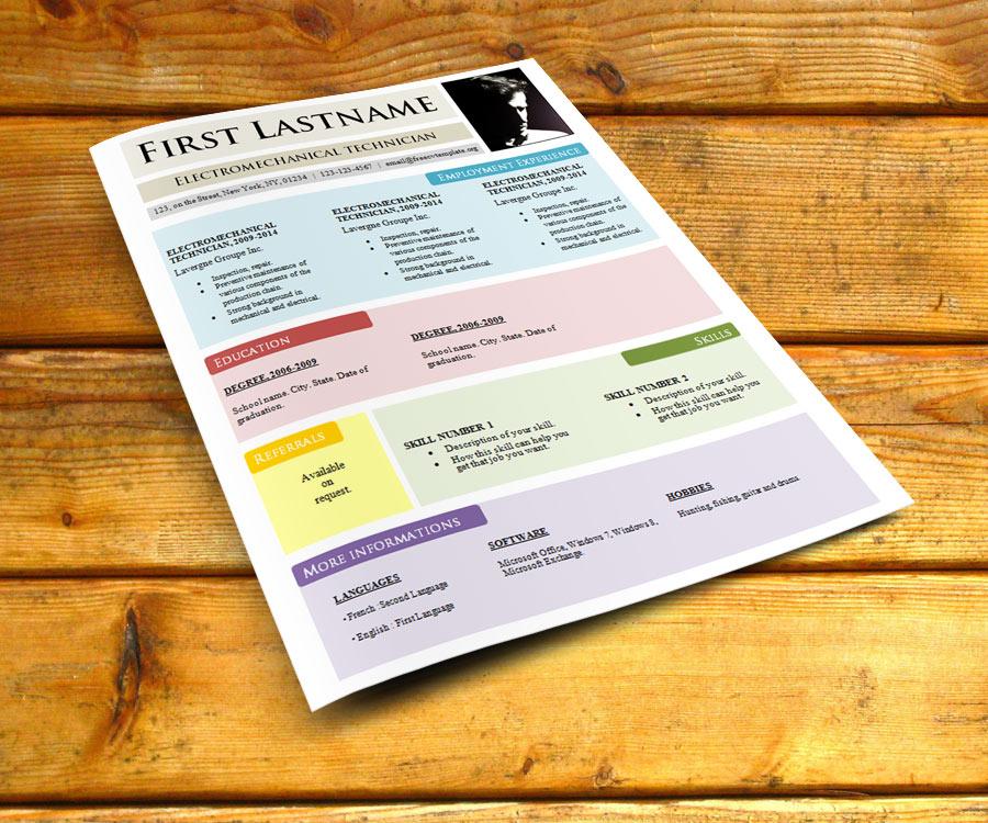 Curriculum vitae template #784