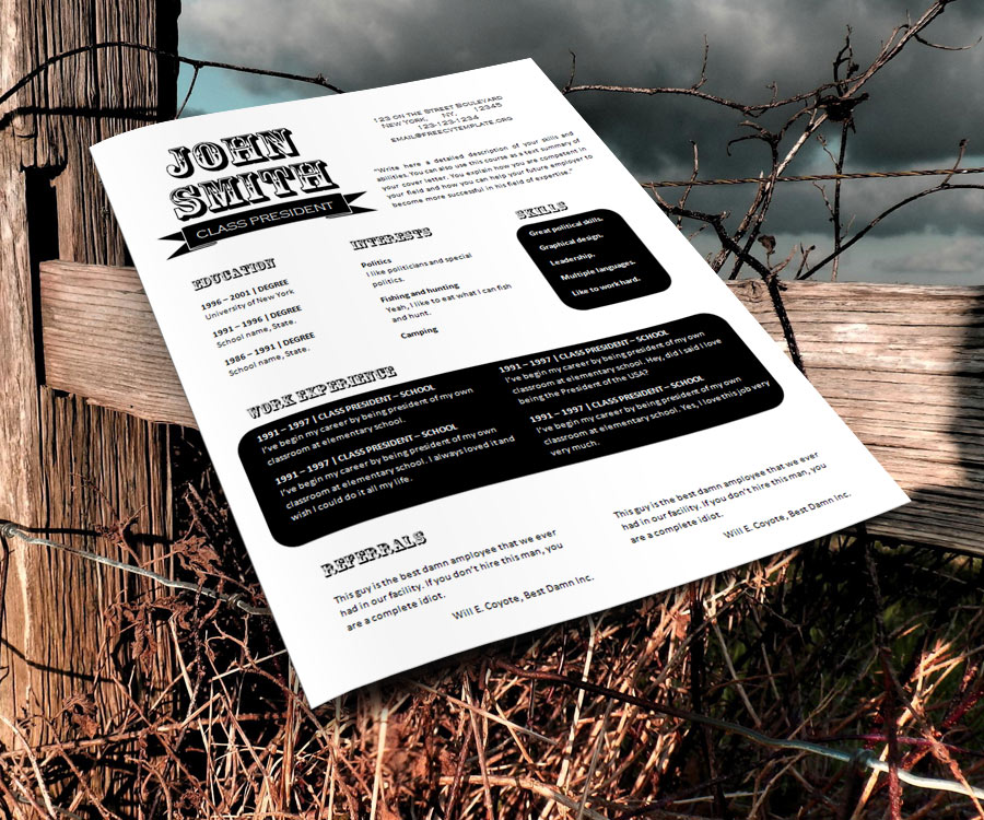 Free resume design templates (#763 – 769)