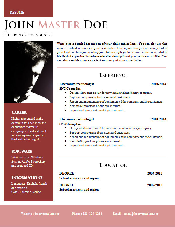 Doc employer make resume word