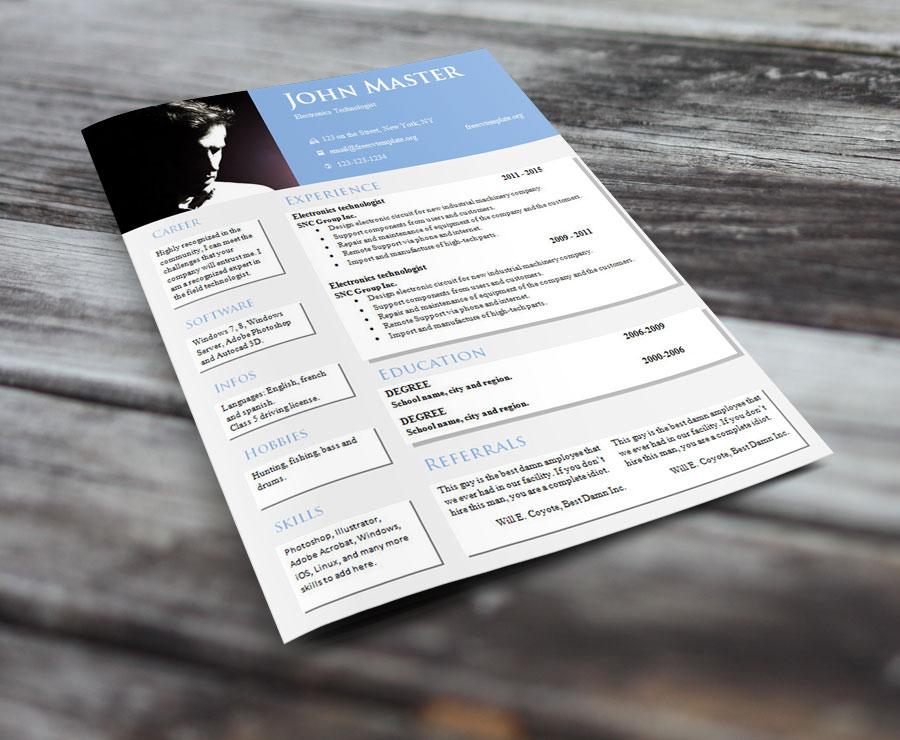 Creative design resume templates (#813 – 819)