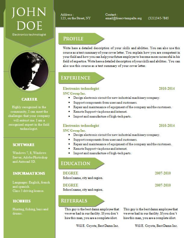 curriculum vitae resume word template 904  910 • get a
