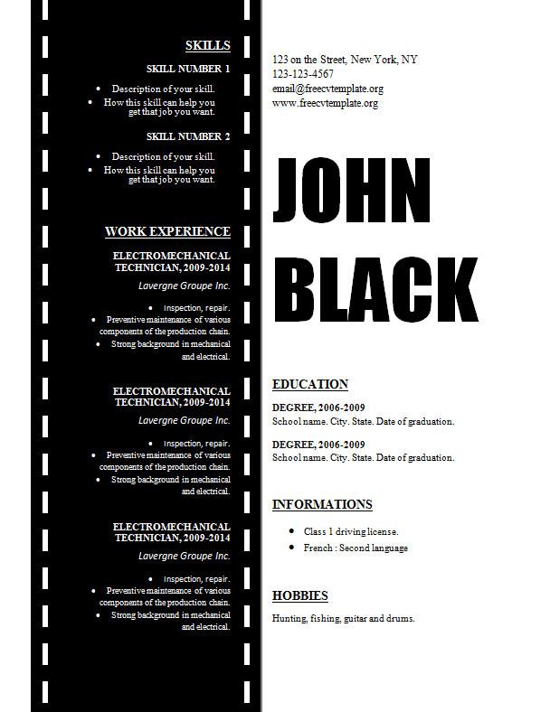 design_resume_template_for_cinema_film_movies_technician