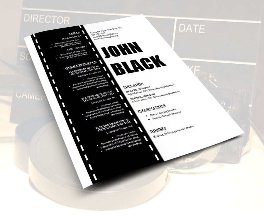 design_resume_template_for_cinema_film_movies_technician_on_film