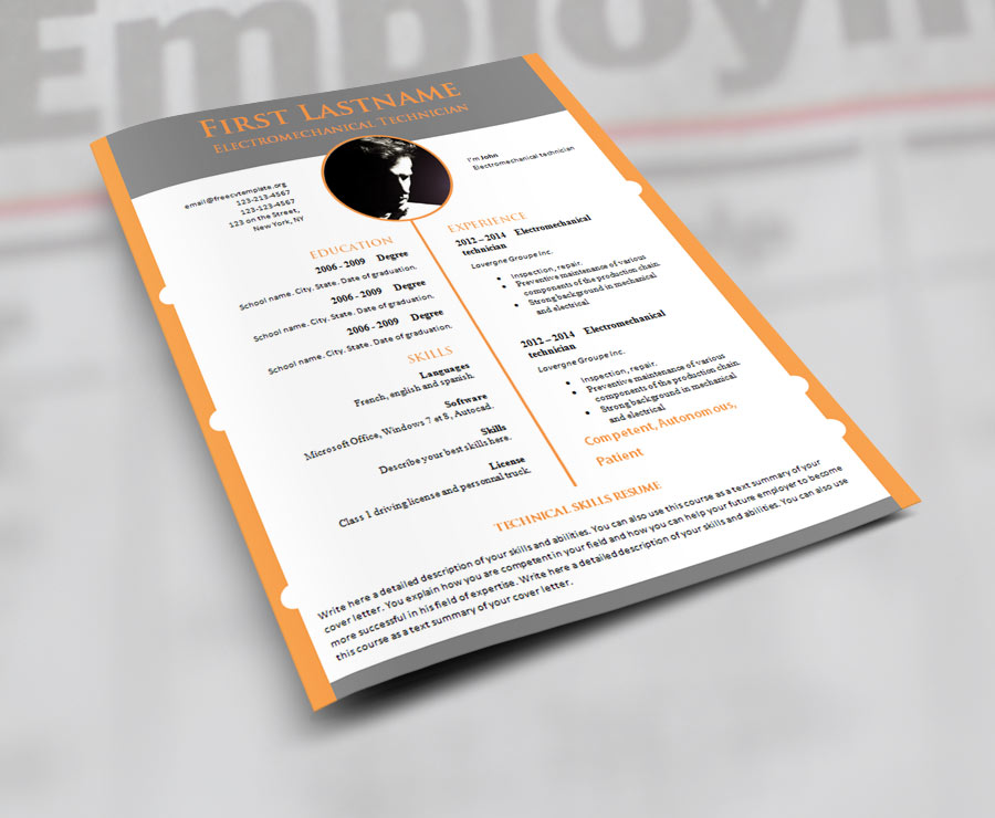 Design cv resume template download (#918 to 924)