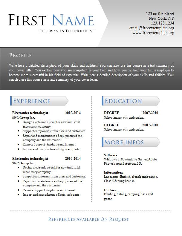 free_cv_resume_word_template_939
