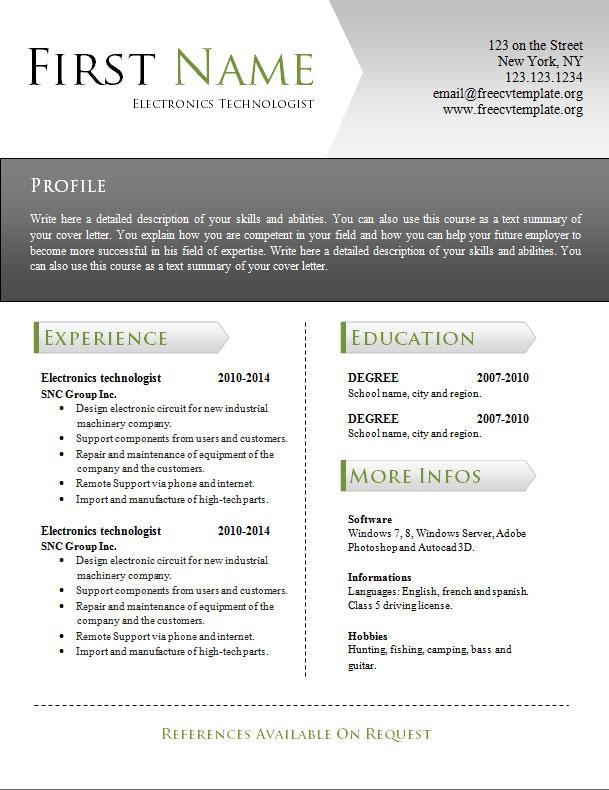 free_cv_resume_word_template_941