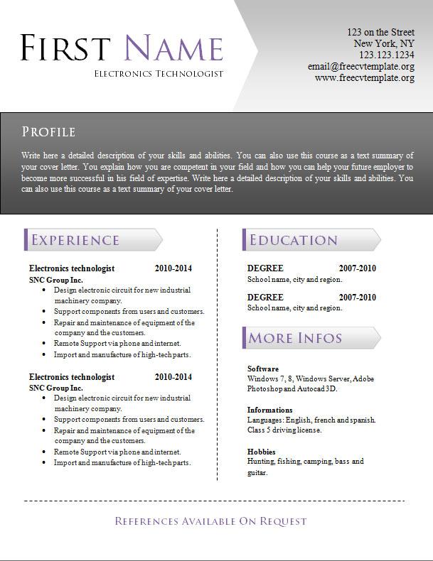 free_cv_resume_word_template_942