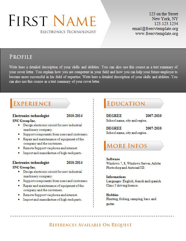 free_cv_resume_word_template_943
