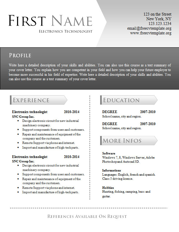 free_cv_resume_word_template_945