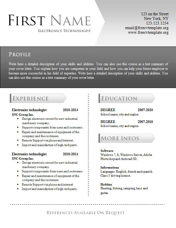 free_cv_resume_word_template_945