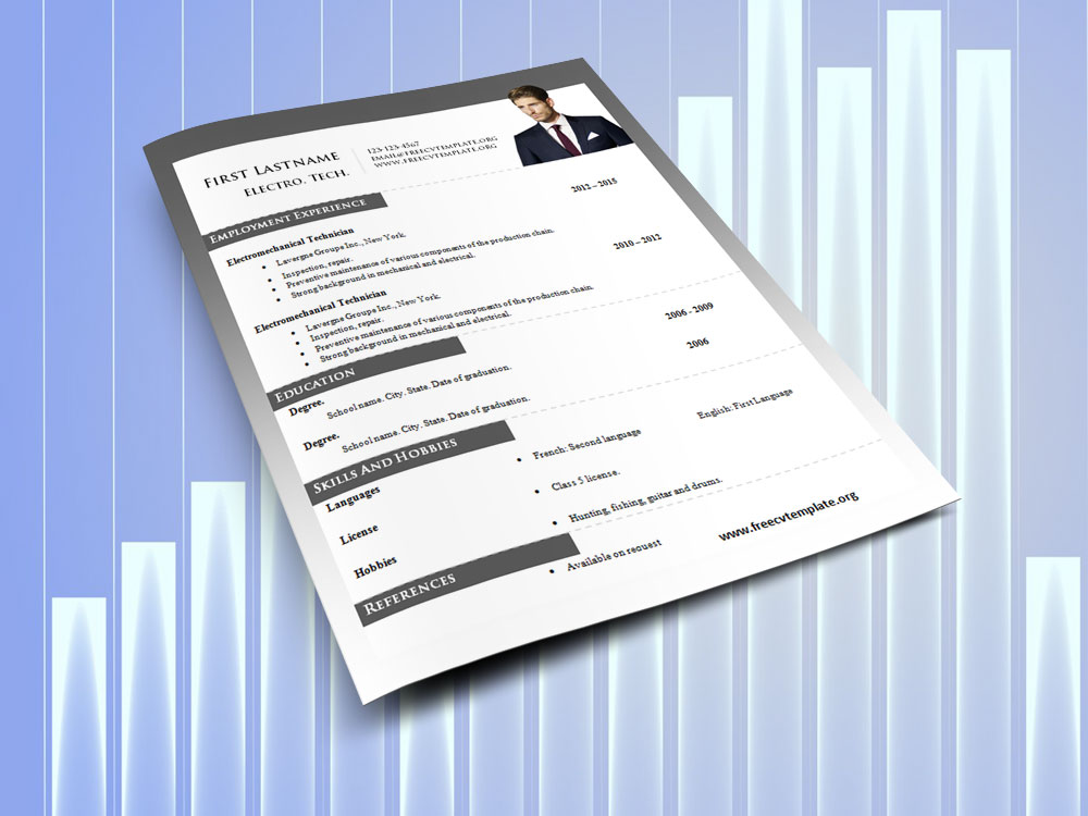 Word Resume Templates #980 to 986