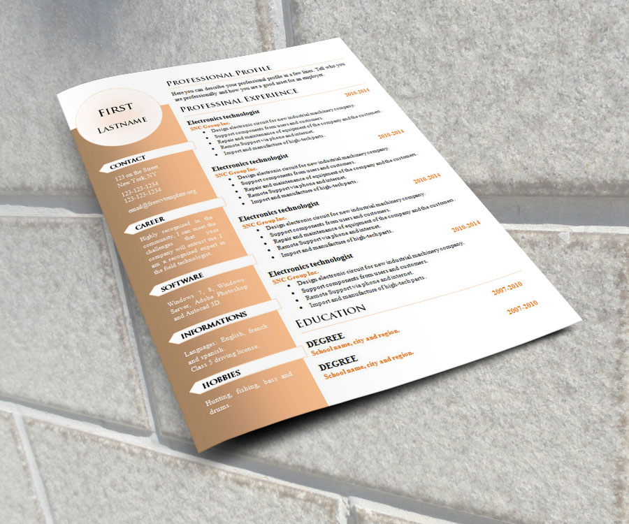 Curriculum vitae resume templates #1004 to #1010