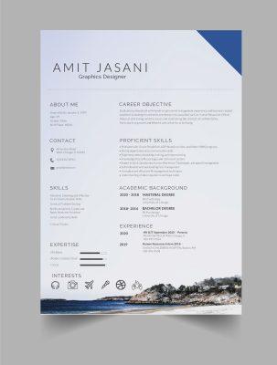 Coasting free CV template