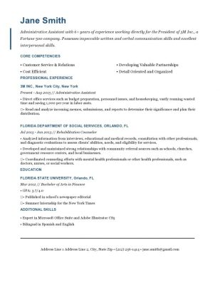 The Empire State Resume Templates