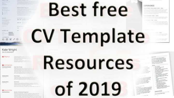 Best free CV Template Resources of 2019