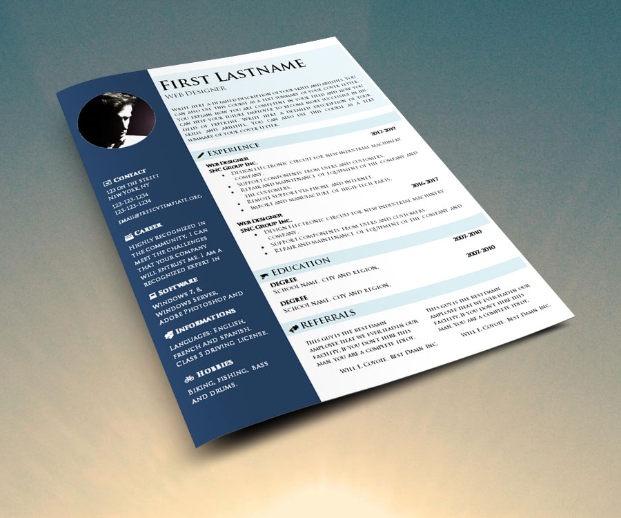 CV Template to Download and Fill In