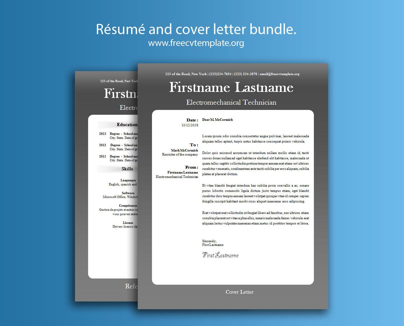 Résumé and Cover Letter Bundle #4