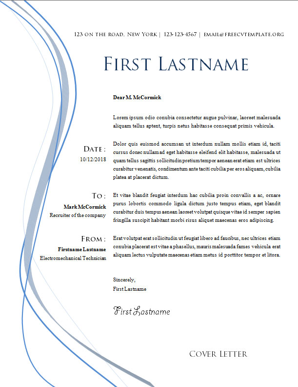Cover Letter Template #11