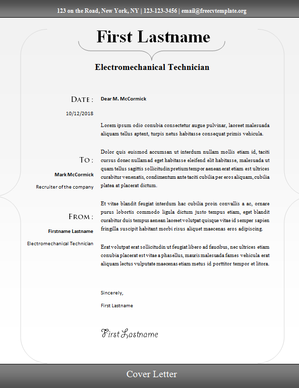 Cover Letter #15