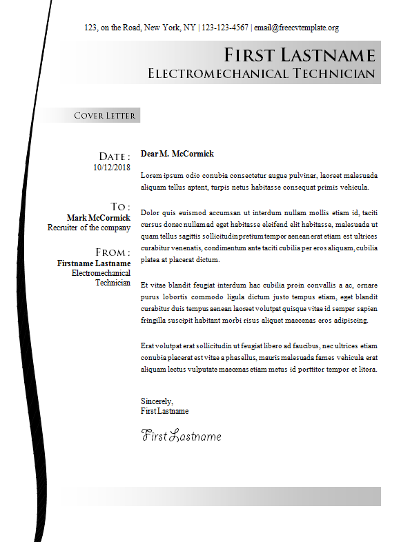Cover Letter #16