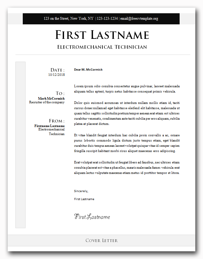 Cover Letter #20
