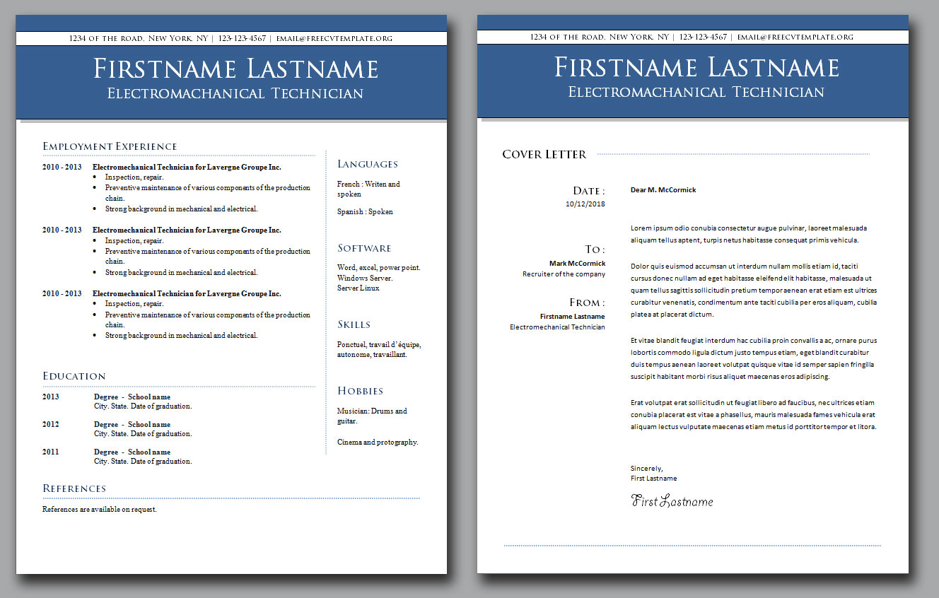 CV Template and Cover Letter Bundle #3