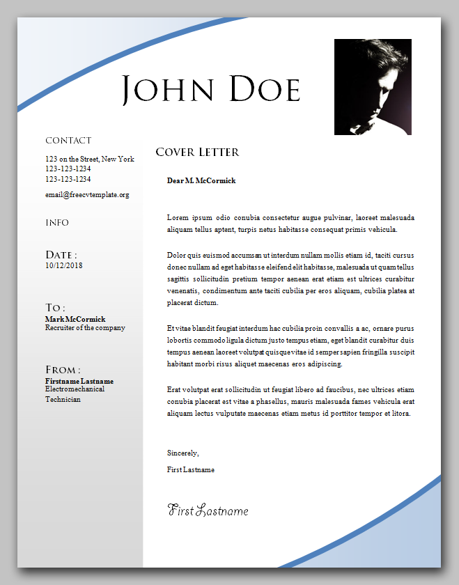Beginner's cover letter template