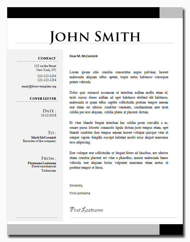 Cover Letter Template #24