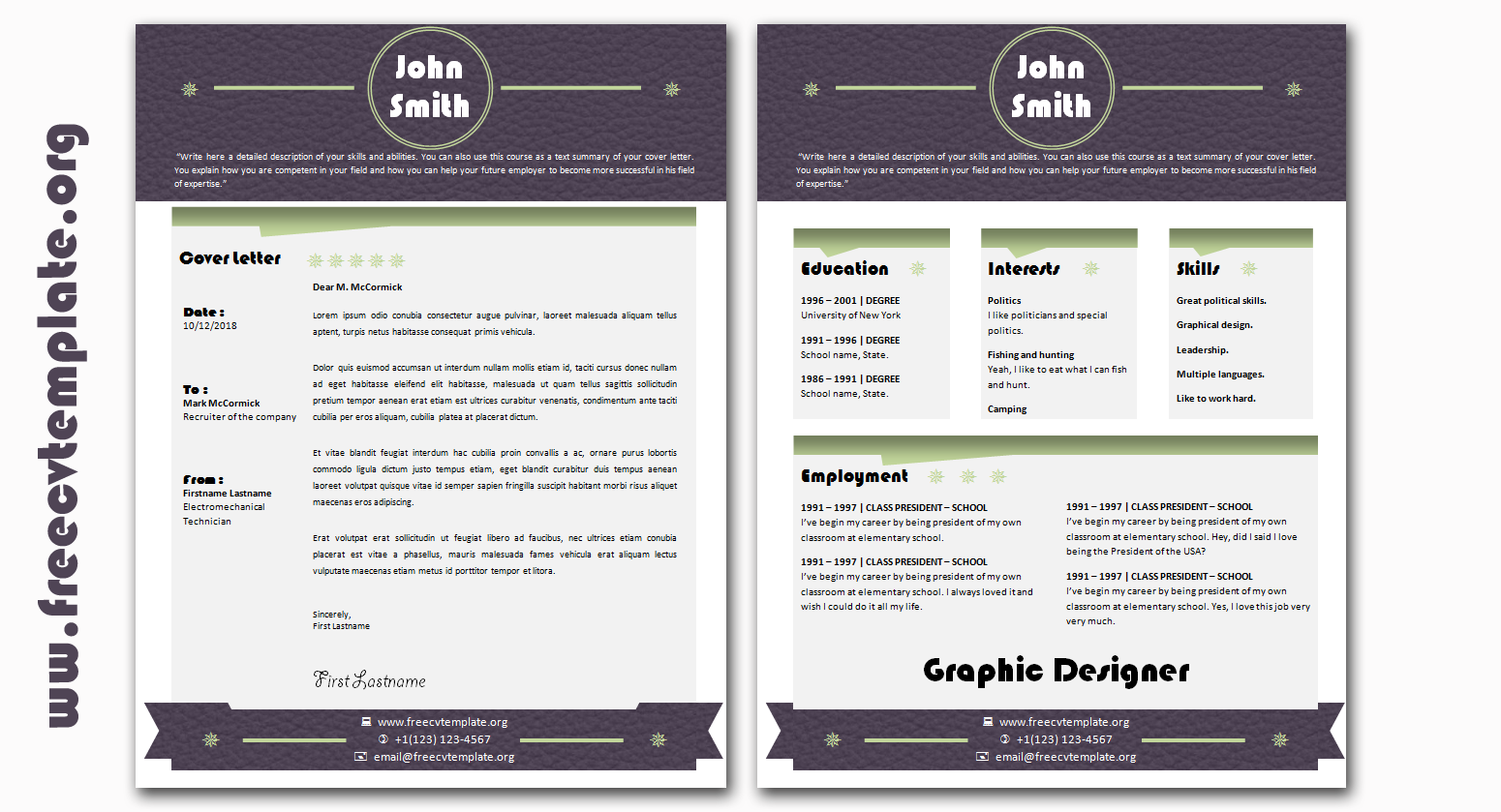 Creative Design Résumé and Cover Letter