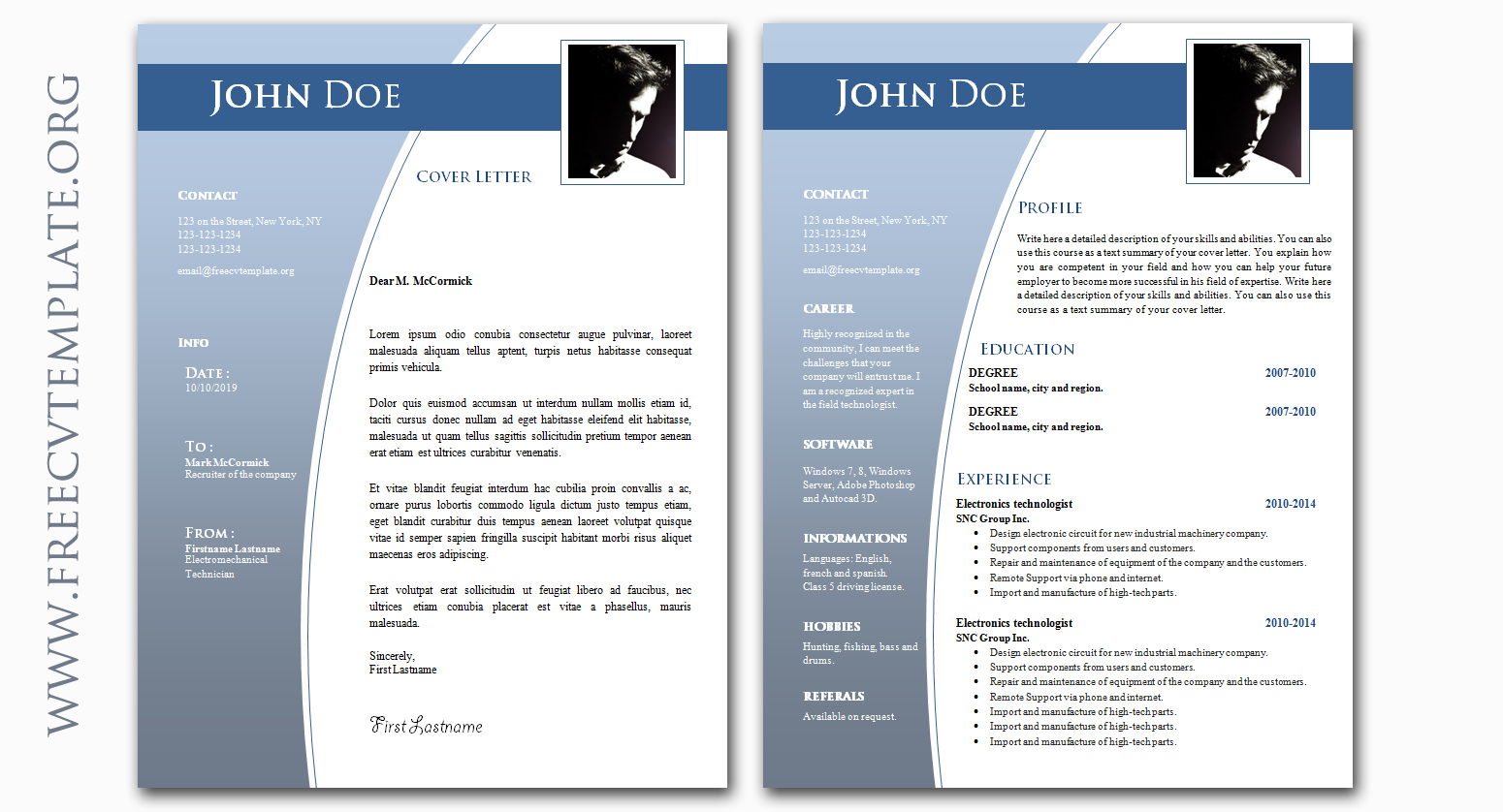 CV And Cover Letter Bundle O Samples Templates Get A Free