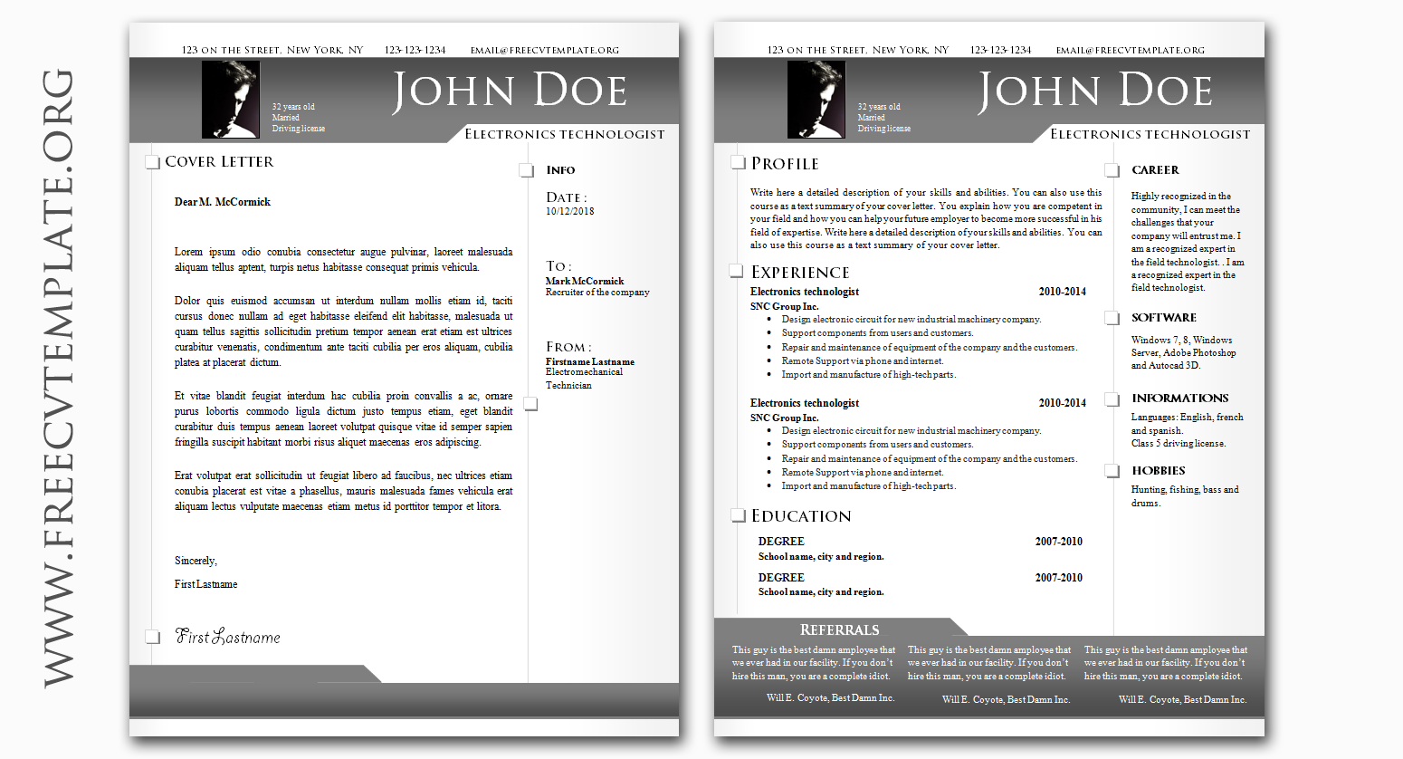 Classic and Original CV & Cover Letter