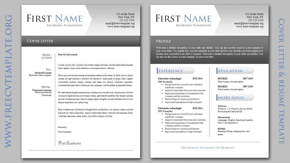elegant cover letter  u0026 resume  u2022 get a free cv