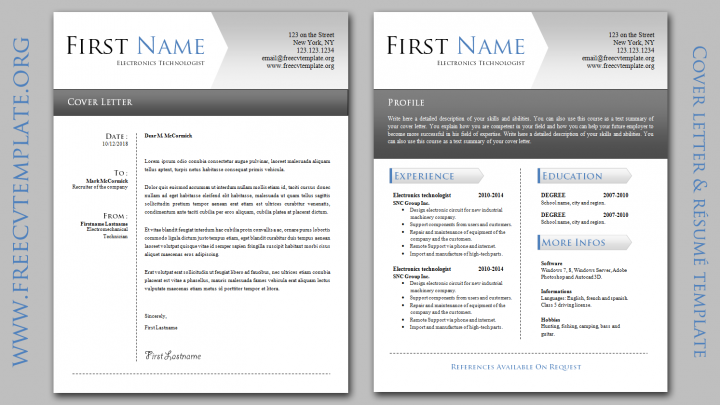 CV and Cover Letter Bundle • Samples • Templates • Get A Free CV