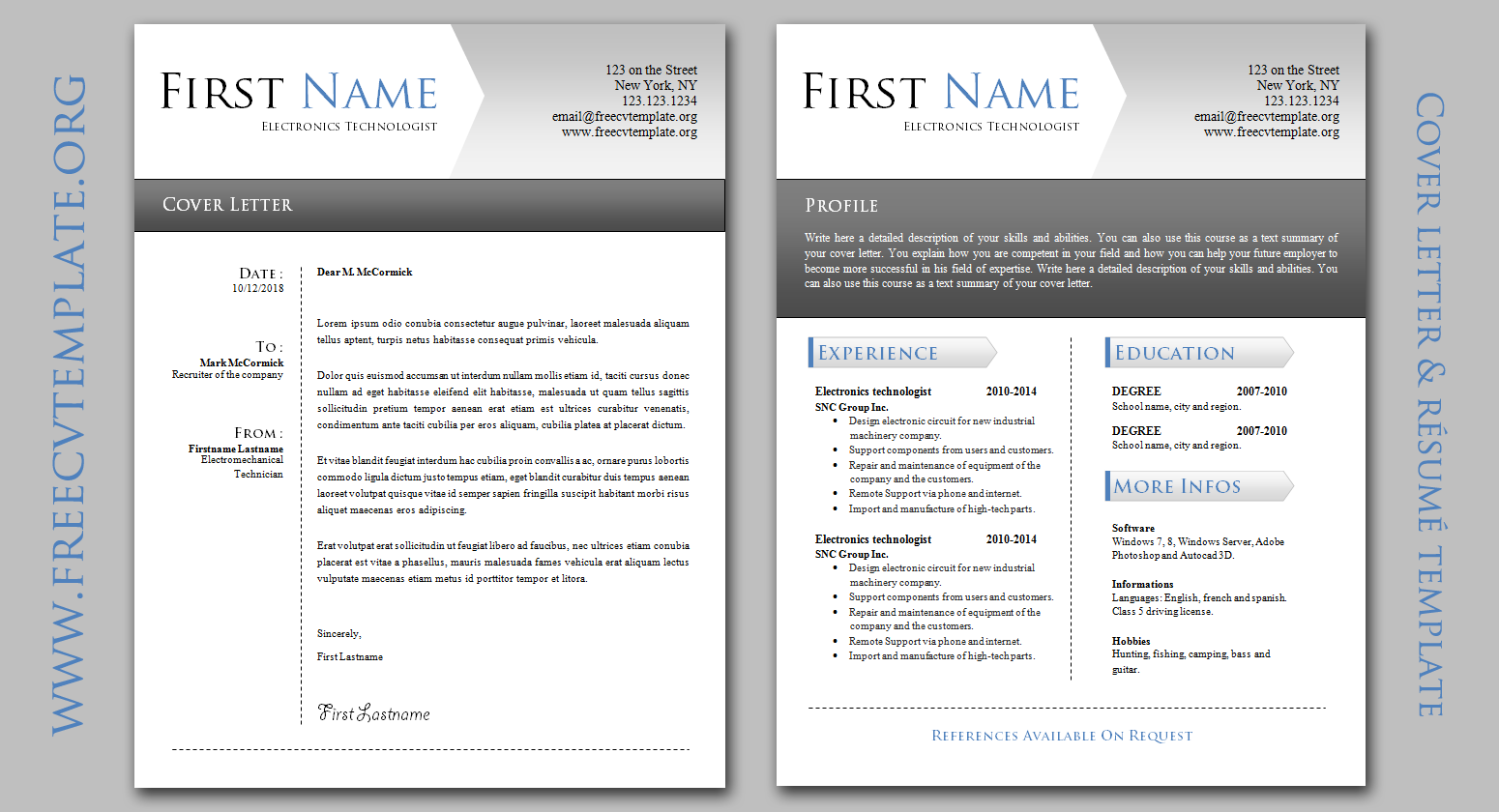 Cover Letter For A Resume Template from www.getafreecv.com