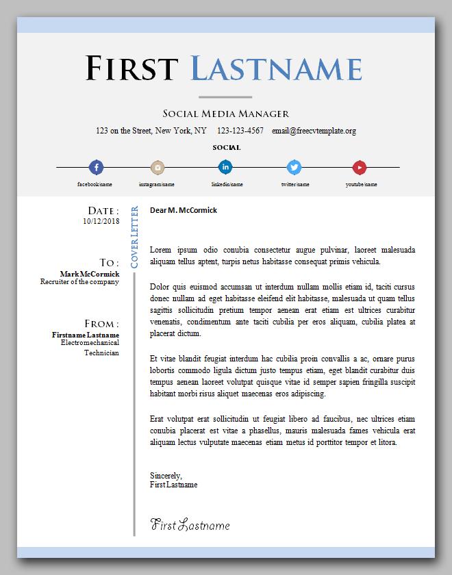 Social media manager cover letter
