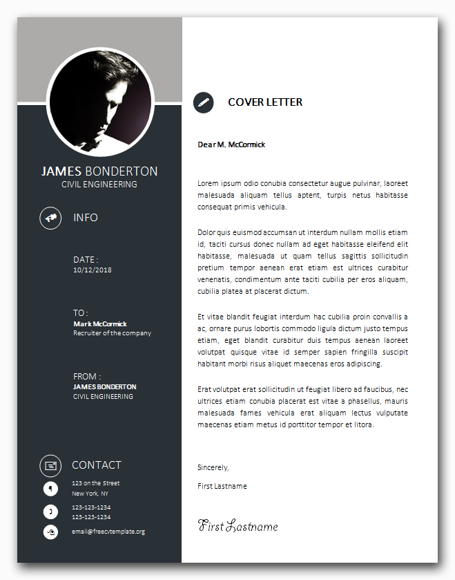 Trend Template Cover Letter