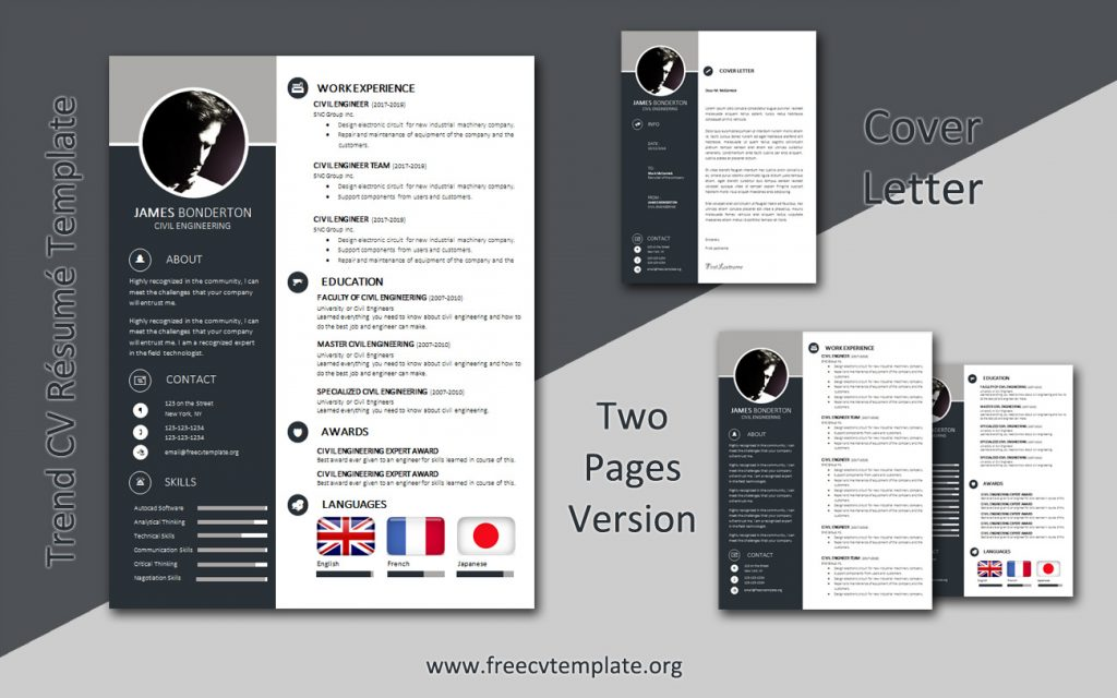 Trend CV, Résumé and Cover Letter Bundle