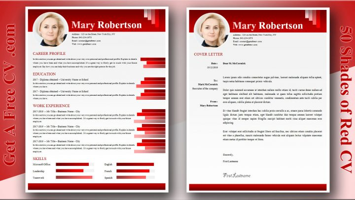 Fifty Shades Of Red CV