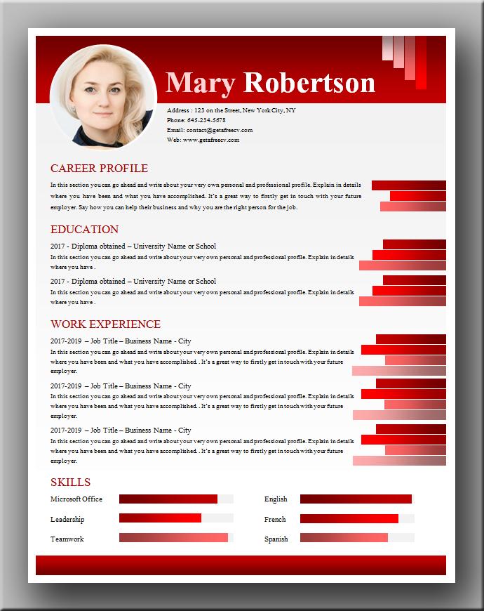 50 shades of red CV