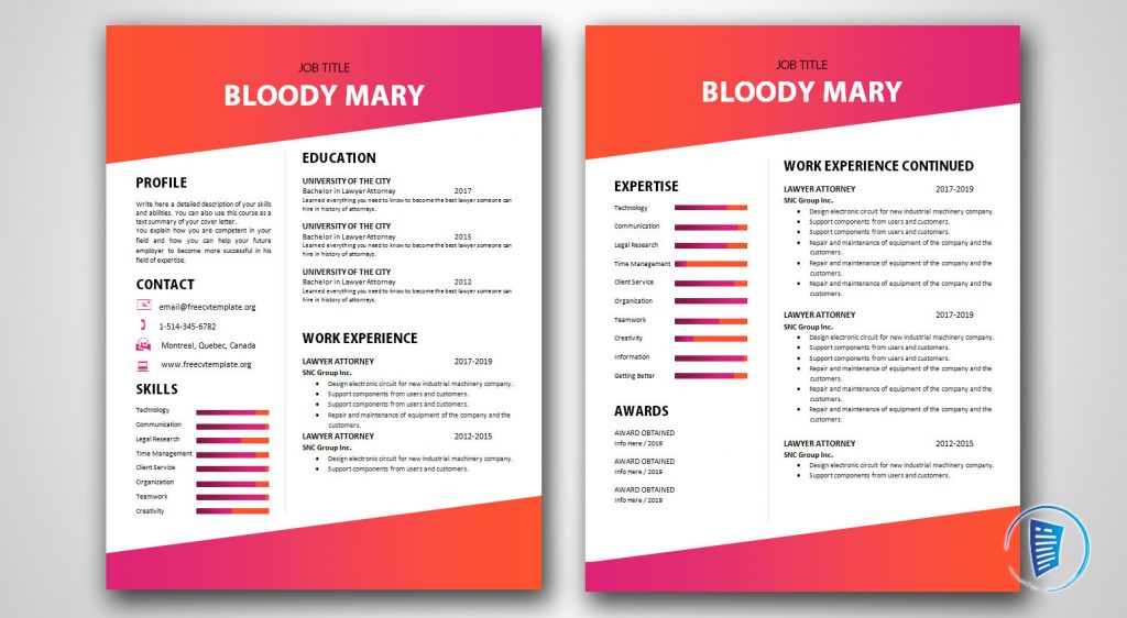 Bloody Mary 2 pages version