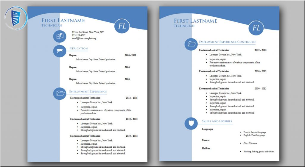 Cv Resume Templates 995 To 1001 Get A Free Cv